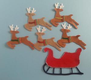Five Little Reindeer - Felt Board Magic